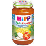 HIPP Био бебешко пюре Спагети с домати и моцарела 8м+ 220 гр.